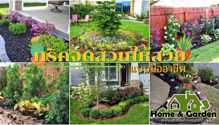 ทริคจัดสวนให้สวยแบบมืออาชีพ การจัดสวนให้สวยงามตามแบบฉบับของมืออาชีพนั้น ถือว่าไม่ใช่เรื่องง่าย และไม่ใช่เรื่องยากเช่นเดียวกันจะมีความประณีต